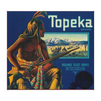 Topeka Brand Citrus Crate Label Canvas Print