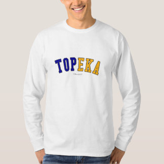 Topeka in Kansas state flag colors T-Shirt