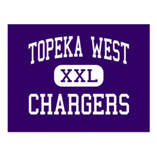 Topeka West - Chargers - High - Topeka Kansas Post Cards