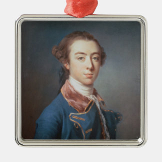 Topham Beauclerk Silver-Colored Square Decoration