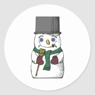Tophat Snowman Stickers