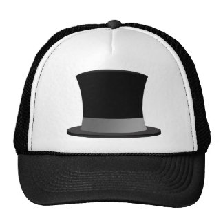 Tophat Trucker Hat - Tuxedo-Casual Style!