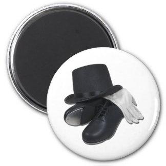 TopHatTapShoesGloves012511 6 Cm Round Magnet