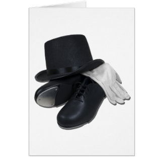 TopHatTapShoesGloves012511 Greeting Card