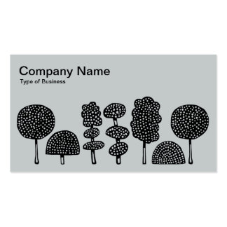 Topiary - Black on Lt Gray Business Card Template