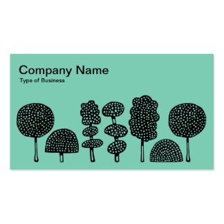 Topiary - Black on Lt Green 7dcfb6 Business Card Templates