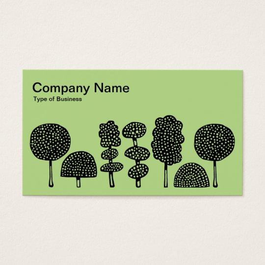 Topiary - Black on Lt Green b8da89 Business