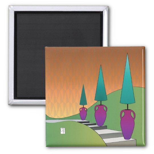 Topiary Cones Magnet