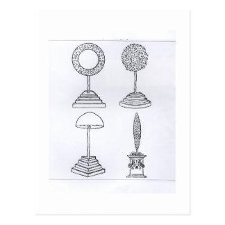 Topiary designs, from 'Hypnerotomachia Poliphili', Postcard