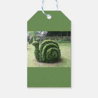 Topiary garden green fun snail gift tags