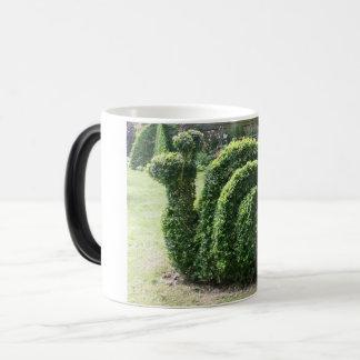 Topiary garden snail green clipped bush magic mug