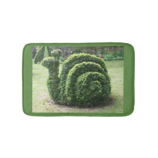 Topiary garden snail green fun bath mat