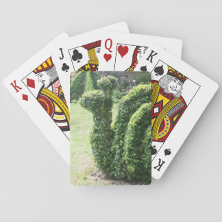 Topiary garden snail ornamental green bush playing cards