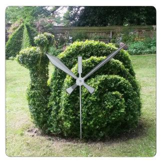Topiary garden snail unique green clock