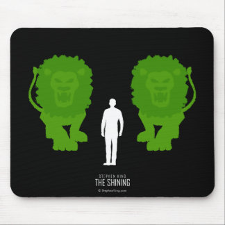 Topiary Lions Mouse Mat