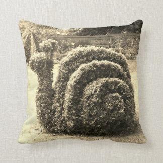 Topiary sepia snail garden bush cushion