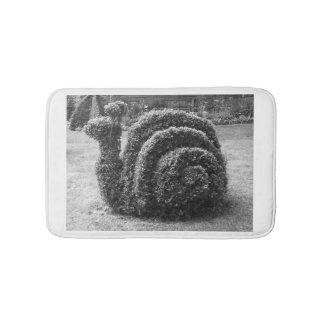 Topiary snail black and white bath / shower mat. bath mats