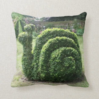 Topiary snail for the serious gardener cushion