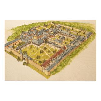 Topkapi Palace. Istambul Turquey. Aerial view Wood Print