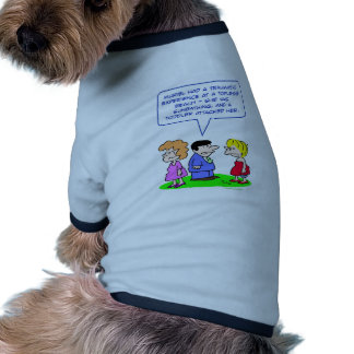 topless beach toddler attacked doggie tee shirt