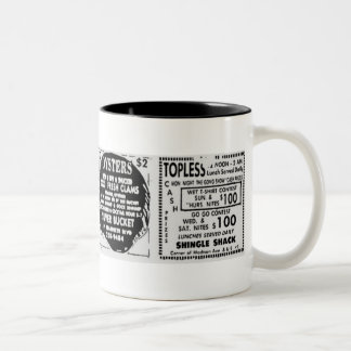 Topless Oysters Two-Tone Mug