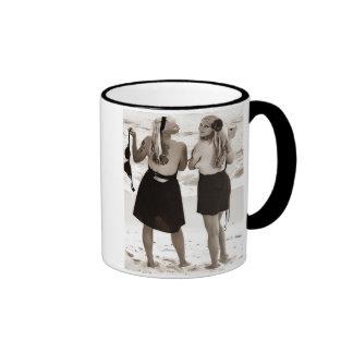 topless pinup girl mug