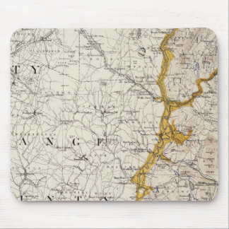 Topographic and Glacial Map of New Hampshire 2 Mouse Pad