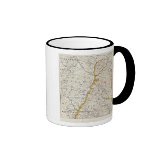 Topographic and Glacial Map of New Hampshire 2 Mugs