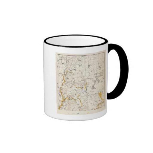 Topographic and Glacial Map of New Hampshire 3 Mug