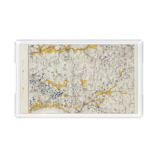 Topographic and Glacial Map of New Hampshire Acrylic Tray