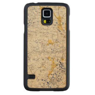 Topographic and Glacial Map of New Hampshire Carved Maple Galaxy S5 Case