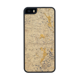 Topographic and Glacial Map of New Hampshire Carved® Maple iPhone 5 Case