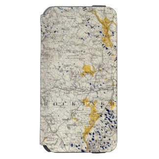 Topographic and Glacial Map of New Hampshire Incipio Watson™ iPhone 6 Wallet Case