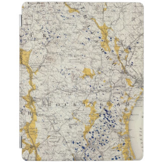 Topographic and Glacial Map of New Hampshire iPad Cover