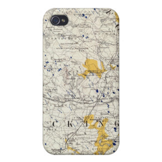 Topographic and Glacial Map of New Hampshire iPhone 4/4S Covers