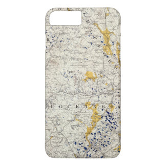 Topographic and Glacial Map of New Hampshire iPhone 8 Plus/7 Plus Case