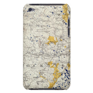 Topographic and Glacial Map of New Hampshire iPod Case-Mate Cases