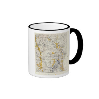 Topographic and Glacial Map of New Hampshire Mug
