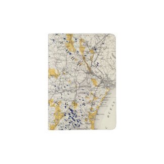 Topographic and Glacial Map of New Hampshire Passport Holder
