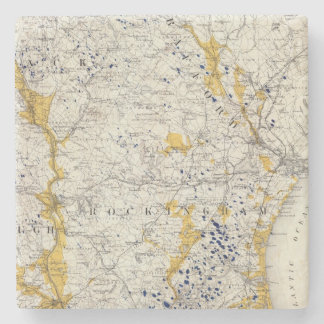 Topographic and Glacial Map of New Hampshire Stone Beverage Coaster