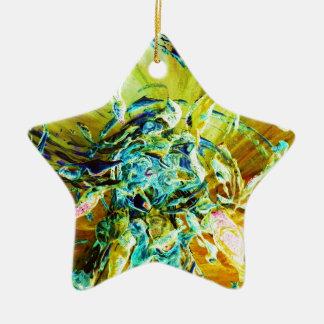 Topographic Angel Ceramic Star Decoration