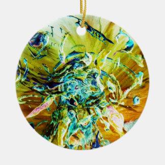 Topographic Angel Christmas Ornament