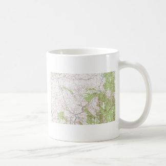 Topographic Map Basic White Mug
