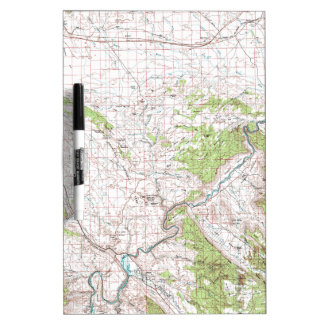 Topographic Map Dry Erase Whiteboards