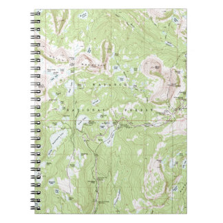 Topographic Map Spiral Note Books