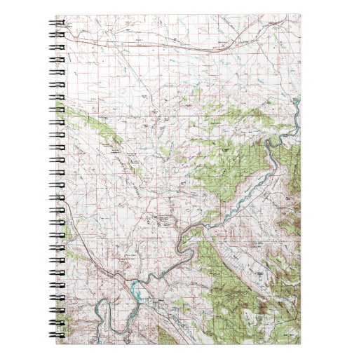 Topographic Map Spiral Notebooks