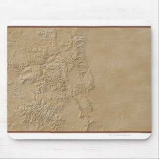 Topographic Map of Colorado 2 Mousepad