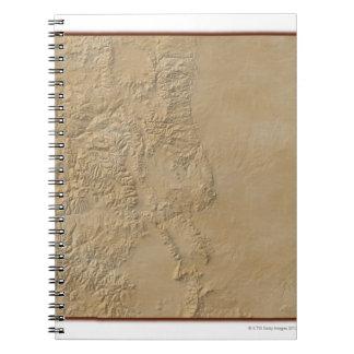 Topographic Map of Colorado 2 Note Books