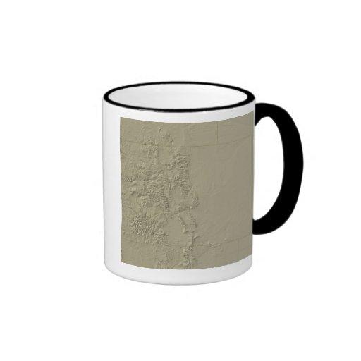 Topographic Map of Colorado Coffee Mugs
