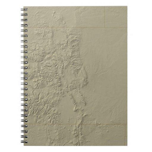 Topographic Map of Colorado Note Book
